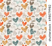 seamless pattern made of... | Shutterstock .eps vector #698079982
