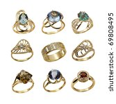 elegant female jewelry golden ... | Shutterstock . vector #69808495