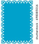frame border label page vector... | Shutterstock .eps vector #698085016