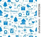 cute vector pattern of... | Shutterstock .eps vector #698085286