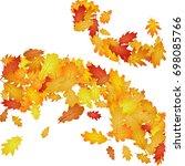 vector pattern of oak leaves ... | Shutterstock .eps vector #698085766