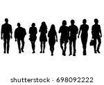 big crowds people on white... | Shutterstock .eps vector #698092222