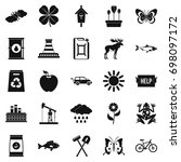 natural resources icons set.... | Shutterstock .eps vector #698097172