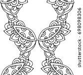 ethnic seamless pattern  black... | Shutterstock .eps vector #698098306