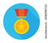 medal icon | Shutterstock .eps vector #698098732
