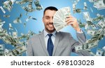 business  people and finances... | Shutterstock . vector #698103028