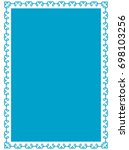 frame border label page vector... | Shutterstock .eps vector #698103256