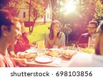 leisure  holidays  eating ... | Shutterstock . vector #698103856