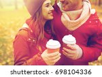 love  drinks and people concept ... | Shutterstock . vector #698104336