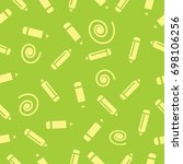 pictograph of pencils seamless... | Shutterstock .eps vector #698106256