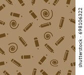 pictograph of pencils seamless... | Shutterstock .eps vector #698106322