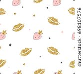 magic design seamless pattern... | Shutterstock .eps vector #698107576