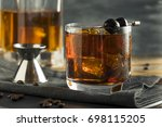 homemade boozy coffee old... | Shutterstock . vector #698115205