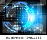 futuristic fantasy background   ... | Shutterstock .eps vector #69811858