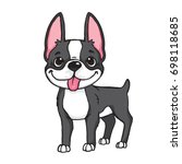cartoon drawing of a black and... | Shutterstock .eps vector #698118685