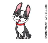 cartoon drawing of a black and... | Shutterstock .eps vector #698118688