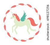 unicorn vector icon isolated on ...   Shutterstock .eps vector #698127256