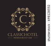 luxury logo super collection... | Shutterstock .eps vector #698128552