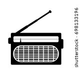 radio icon vector  receiver.... | Shutterstock .eps vector #698133196