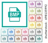 bmp file format flat color... | Shutterstock .eps vector #698135992
