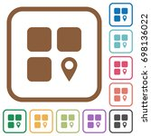 component location simple icons ... | Shutterstock .eps vector #698136022