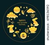 mid autumn festival concept... | Shutterstock .eps vector #698136592