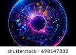 abstract background. luminous... | Shutterstock . vector #698147332