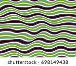 curved stripes vector  wavy... | Shutterstock .eps vector #698149438