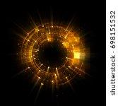 abstract background. luminous... | Shutterstock . vector #698151532