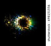 abstract background. luminous... | Shutterstock . vector #698151556
