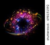 abstract background. luminous... | Shutterstock . vector #698151592