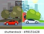 illustration of comparison... | Shutterstock .eps vector #698151628