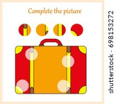 worksheet. complete the picture ... | Shutterstock .eps vector #698153272