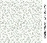 money vector seamless pattern.... | Shutterstock .eps vector #698153392