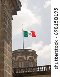 mexico flag in chapultepec...   Shutterstock . vector #698158195