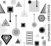 set  abstract seamless pattern...   Shutterstock .eps vector #698158426