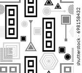 set  abstract seamless pattern...   Shutterstock .eps vector #698158432