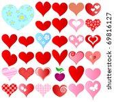 valentines set   Shutterstock .eps vector #69816127