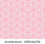 decorative seamless geometric...   Shutterstock .eps vector #698166256