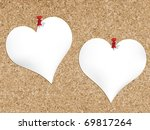 Cork Bulletin Board With Heart...