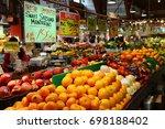 granville island. vancouver.... | Shutterstock . vector #698188402