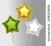 vector balloons set. golden ... | Shutterstock .eps vector #698205856