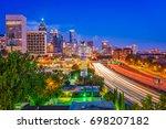 atlanta  georgia  usa downtown... | Shutterstock . vector #698207182