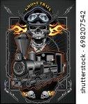 railway locomotive   Shutterstock .eps vector #698207542