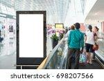 beautiful blank advertising... | Shutterstock . vector #698207566