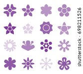 flower icon collection in flat... | Shutterstock .eps vector #698211526