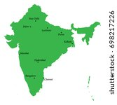 map of india with main cities | Shutterstock .eps vector #698217226
