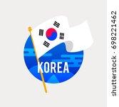 the flag of south korea... | Shutterstock .eps vector #698221462