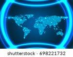 digital business  futuristic... | Shutterstock .eps vector #698221732
