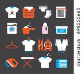 laundry color icons | Shutterstock .eps vector #698222665